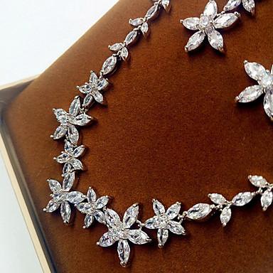 Γυναικεία Γάμου Πάρτι Ζιρκονίτης Cubic Zirconia Προσομειωμένο διαμάντι Cercei Κολιέ