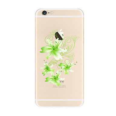 Maska Pentru Apple iPhone X iPhone 8 Plus iPhone 7 iPhone 6 Carcasă iPhone 5 Transparent Model Carcasă Spate Floare Moale TPU pentru