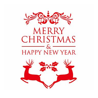 zooyoo® drăguț colorat pvc detașabil cuvânt Crăciun artă și doi urși de autocolante de perete și decalcomanii de perete pentru decor acasă