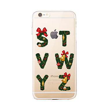 Για Διαφανής / Με σχέδια tok Πίσω Κάλυμμα tok Χριστούγεννα Μαλακή TPU για AppleiPhone 7 Plus / iPhone 7 / iPhone 6s Plus/6 Plus / iPhone