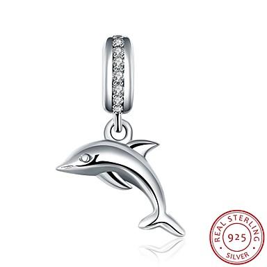 european și american popular stil de moda bijuterii de argint sterlină 925 zircon pandantiv agățat brățară - accesorii forma delfin