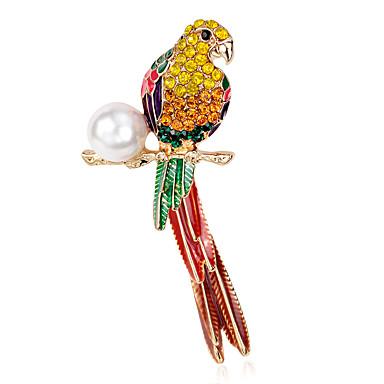 Mulheres Parrot Pérola Broches - Luxo Arco-Íris Broche Para Festa / Diário / Casual
