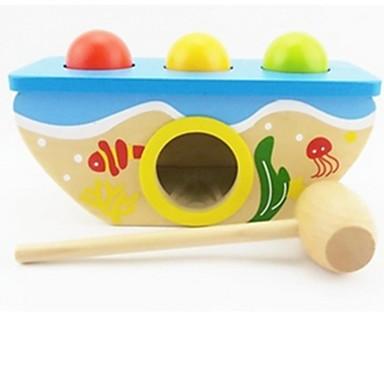 Hammering / Pounding Toy Vauvalelu Opetuslelut Koulutus Erikois Puinen Puu 1pcs Lasten Tyttöjen Poikien Lahja