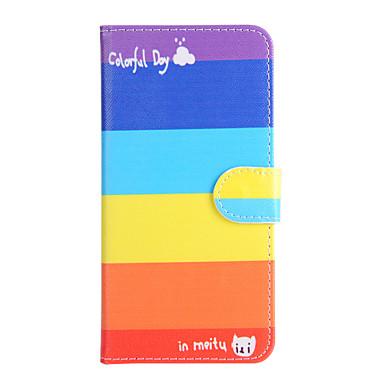 Etui Käyttötarkoitus Apple iPhone 6 iPhone 6 Plus Korttikotelo Lomapkko Tuella Flip Suojakuori Geometrinen printti Kova PU-nahka varten