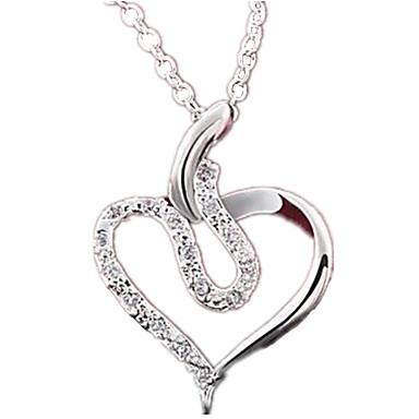Női Alak Szerelem Divat Rövid nyakláncok Nyaklánc medálok Függők Nyilatkozat nyakláncok Szintetikus drágakövek Ezüst Cirkonium Kocka