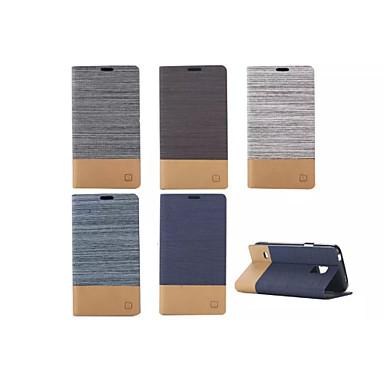 Para Samsung Galaxy Capinhas Porta-Cartão / Com Suporte / Flip Capinha Corpo Inteiro Capinha Cor Única Couro PU Samsung S6 edge / S5