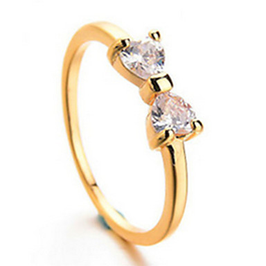 Evlilik Yüzükleri Aşk lüks mücevher Zirkon Kübik Zirconia alaşım Bowknot Shape Mücevher Için Parti 1pc