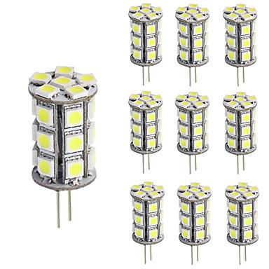 3W G4 أضواء LED Bi Pin T 24 مصلحة الارصاد الجوية 5050 270 lm أبيض دافئ / أبيض كول ديكور / مضاء DC 12 V 10 قطع