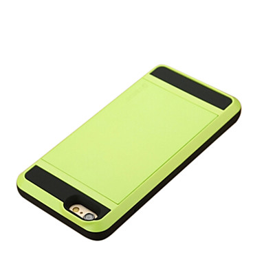 Capinha Para Apple iPhone 6 iPhone 6 Plus Porta-Cartão Capa traseira Côr Sólida Rígida PC para iPhone 6s Plus iPhone 6s iPhone 6 Plus