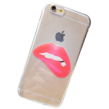lippen patroon TPU transparant soft shell telefoon Cover Case voor iphone6 plus