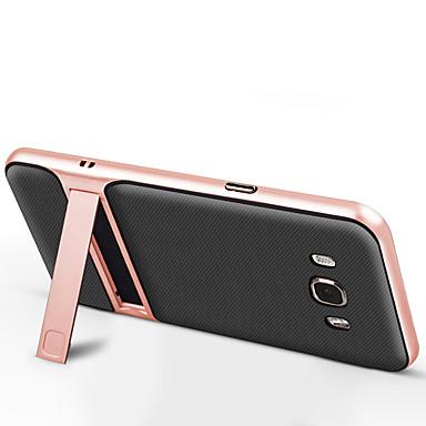 Kılıf Na Samsung Galaxy J7 Prime J5 Prime Z podpórką Czarne etui Solid Color Twarde TPU na J7 Prime J7 (2016) J5 Prime J5 (2016) J2 Prime