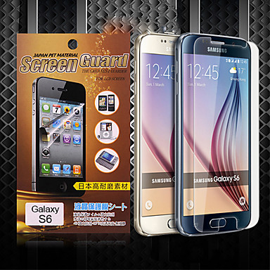 Screenprotector voor Samsung Galaxy S6 PET Voorkant screenprotector High-Definition (HD)