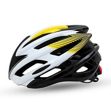 ieftine Căști-Adulți biciclete Casca N / A Găuri de Ventilaţie Rezistent la Impact Ajustabil Modelată integral Fibră de Carbon+ EPS Sport Bicicletă șosea Bicicletă montană Ciclism / Bicicletă - Verde Albastru Roz