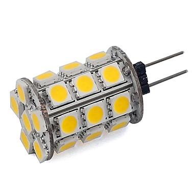 3.5 G4 LED Bi-pin Işıklar Tüp 24 SMD 5050 300 lm Sıcak Beyaz Serin Beyaz Kısılabilir Dekorotif DC 12 V 1 parça