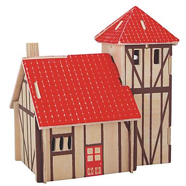 Palapelit Puiset palapelit Rakennuspalikoita DIY lelut Sfääri Talo 1 Puu Kristalli Rakennuslelu