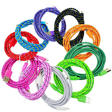 1M Micro USB Strong Braided Data Sync Charger Cable for Samsung Galaxy Tab & Phone / Huawei / Xiaomi / Sony / Nokia Cellphone