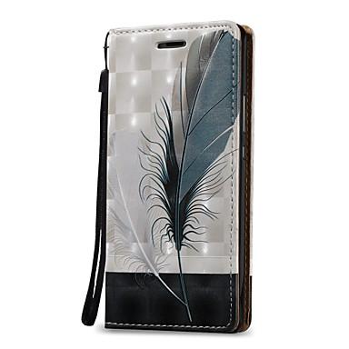 Για Θήκες Καλύμματα Πορτοφόλι Θήκη καρτών Πλήρης κάλυψη tok Φτερά Σκληρή PU Δέρμα για Huawei Huawei P9 Lite