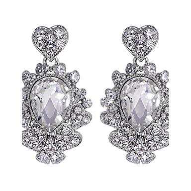 للمرأة أقراط قطرة حجر الراين كريستال مجوهرات أبيض زفاف حزب يوميا مجوهرات