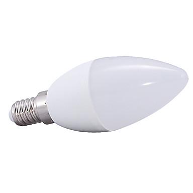 E14 LED Küre Ampuller C37 14 led SMD 2835 Sıcak Beyaz 3000lm 3000KK AC 220-240V