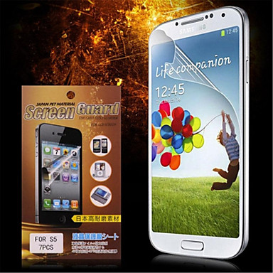 Ekran Koruyucu için Samsung Galaxy S5 PET Ön Ekran Koruyucu Yüksek Tanımlama (HD)