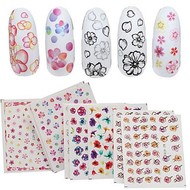 4 Sheet Nail Art autocolant Decals de transfer de apă machiaj cosmetice Nail Art Design