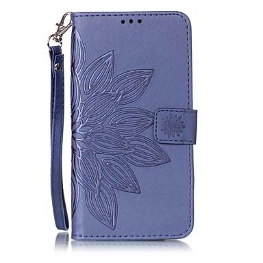 tok Για Samsung Galaxy S7 edge S7 Θήκη καρτών Πορτοφόλι με βάση στήριξης Ανοιγόμενη Με σχέδια Ανάγλυφη Πλήρης Θήκη Λουλούδι Σκληρή PU
