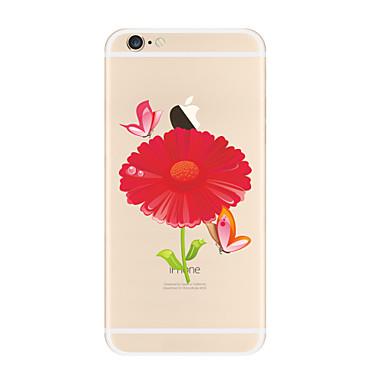 Pouzdro Uyumluluk Apple iPhone X iPhone 8 Plus iPhone 7 iPhone 6 iPhone 5 Kılıf Şeffaf Temalı Arka Kılıf Çiçek Yumuşak TPU için iPhone X