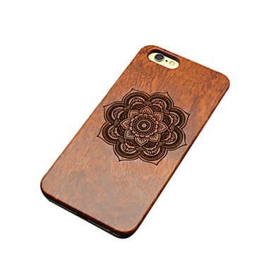 Para Capinha iPhone 6 Capinha iPhone 6 Plus Case Tampa Com Relevo Estampada Capa Traseira Capinha Flor Rígida Madeira paraiPhone 6s Plus