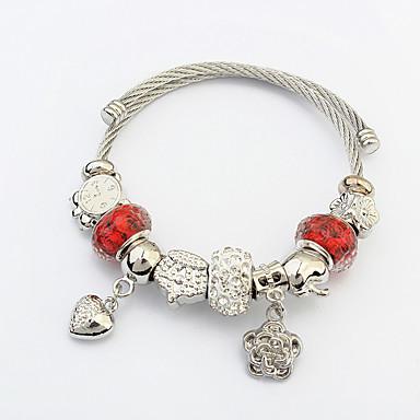 Γυναικεία Βραχιόλια με Φυλαχτά Love Μοντέρνα Ευρωπαϊκό Ατσάλι Heart Shape Κοσμήματα Για Χριστουγεννιάτικα δώρα