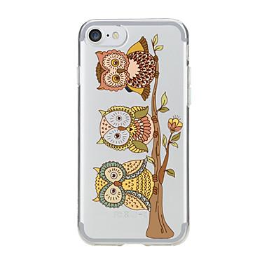 Varten Läpinäkyvä / Kuvio Etui Takakuori Etui Pöllö Pehmeä TPU varten AppleiPhone 7 Plus / iPhone 7 / iPhone 6s Plus/6 Plus / iPhone 6s/6