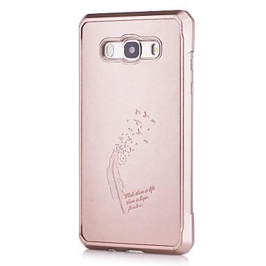 Etui Käyttötarkoitus Samsung Galaxy J5 (2016) Kuvio Takakuori Yhtenäinen väri Pehmeä PU-nahka varten J5 (2016)