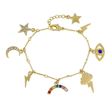 Bransoletki Bransoletki z breloczkami Stop Others Przyjaźń Urodziny Biżuteria Prezent Złoty,1szt