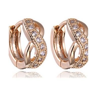 Damskie Kolczyki koła luksusowa biżuteria Imitacja diamentu Stop Nieskończoność Biżuteria Na Impreza
