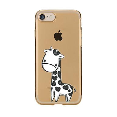 Kılıf Na Apple Etui iPhone 5 iPhone 6 iPhone 7 Przezroczyste Wzór Czarne etui Zwierzę Miękkie TPU na iPhone 7 Plus iPhone 7 iPhone 6s