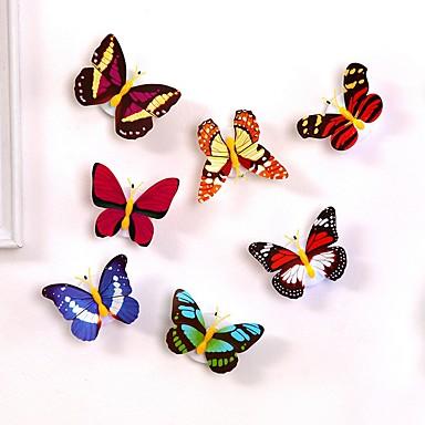 1 adet led işık ile renkli gece atmosfer lamba kelebek değişen ışık ile emme pedi ev partisi masası duvar dekor