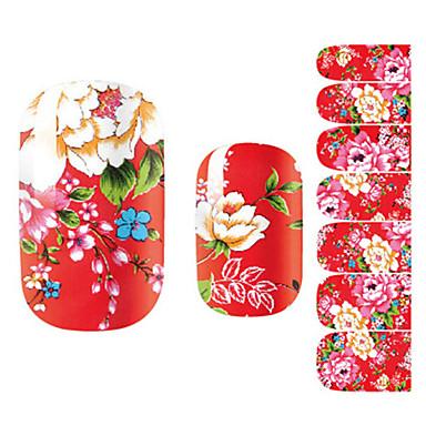 Etiquetas de unhas 3D Modelo de estampa de unhas Diário Flor Fashion Adorável Alta qualidade