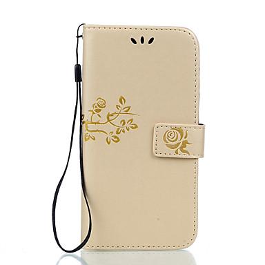 Kılıf Na LG LG K10 LG K7 LG G5 LG G4 Etui na karty Portfel Z podpórką Flip Wytłaczany wzór Pełne etui Kwiaty Twarde Skóra PU na LG X