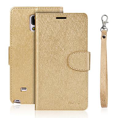 Maska Pentru Samsung Galaxy Titluar Card Portofel Cu Stand Întoarce Carcasă Telefon Culoare solidă Greu PU piele pentru Note 5 Note 4