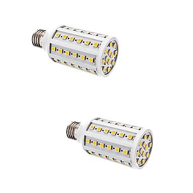 E26/E27 Becuri LED Corn T 60 LED-uri SMD 5050 Alb Cald 880lm 2700-3300K AC 220-240V