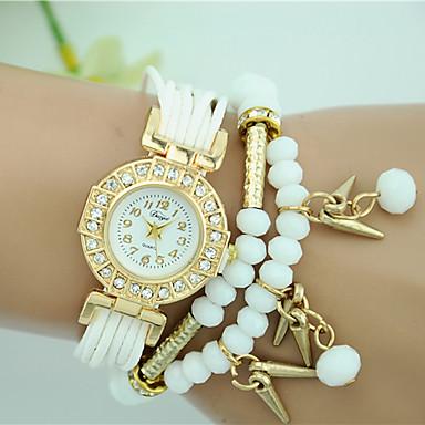 Damskie Zegarek na bransoletce Modny Kwarcowy Tkanina Pasmo Perła Czarny Biały Niebieski Czerwony Brązowy Rose
