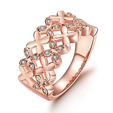 Γυναικεία Δαχτυλίδι Cubic Zirconia Ευρωπαϊκό Ζιρκονίτης Cubic Zirconia Χαλκός Κοσμήματα Καθημερινά Causal