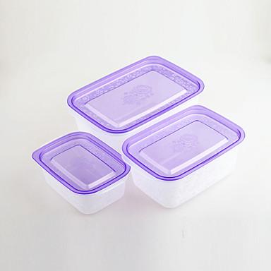3 Keittiö Muovi Lounaslaatikot