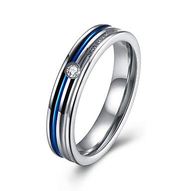 نساء خاتم مكعب زركونيا ترف الفولاذ المقاوم للصدأ زركون الصلب التيتانيوم تقليد الماس مجوهرات حزب يوميا فضفاض