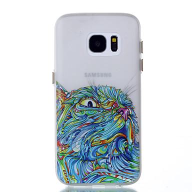 Pentru Carcase Huse Stralucire in intuneric Carcasă Spate Maska Bufniţă Moale TPU pentru Samsung Galaxy S8 S8 Plus S7 edge S7