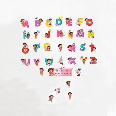 حيوانات أزياء كلمات ومصطلحات ملصقات الحائط لواصق حائط الطائرة لواصق حائط مزخرفة, الفينيل تصميم ديكور المنزل جدار مائي جدار زجاج / الحمام