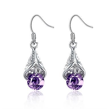 Halka Küpeler Mücevher lüks mücevher Avrupa Bakır Gümüş Kaplama Damla Mücevher Için Düğün Parti Günlük 1 çift