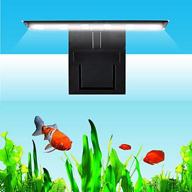 Akvaryumlar LED Aydınlatma Balık Tankı Işığı Şerit Lamba Beyaz Anahtar(lar) İle Klips LED lamba 220V
