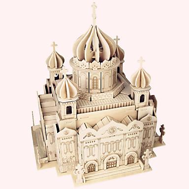 Drewniane puzzle Znane budynki Chińska architektura Dom Kościół Katedra Katedra Chrystusa Zbawiciela profesjonalnym poziomie Drewniany