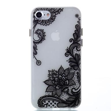 Käyttötarkoitus kotelot kuoret Hehkuu pimeässä Takakuori Etui Lace Printing Pehmeä TPU varten Apple iPhone 7 Plus iPhone 7 iPhone 6s Plus