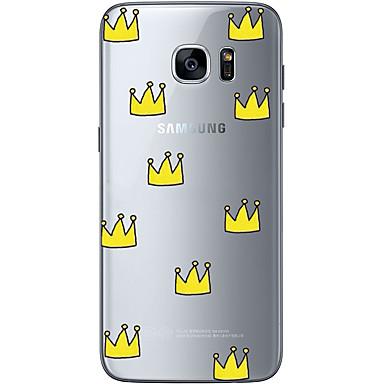 Pouzdro Uyumluluk Samsung Galaxy S7 edge S7 Ultra İnce Şeffaf Temalı Arka Kılıf Tek Renk Yumuşak TPU için S7 edge S7 S6 edge plus S6 edge